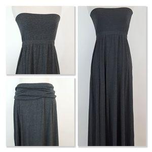 Splendid Cotton Blend Maxi Skirt/Strapless Dress M